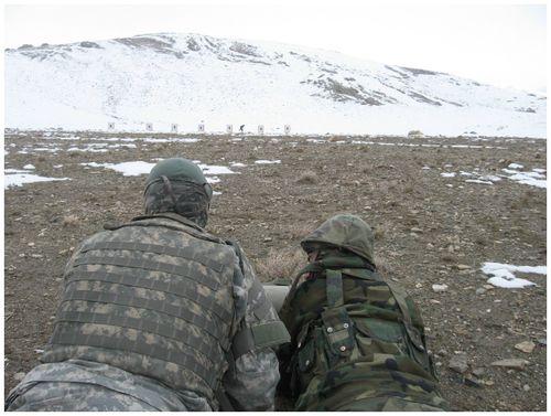 Framed Tupper afghan rifle range