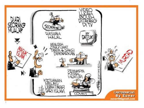 Zunar cartoon Murtad