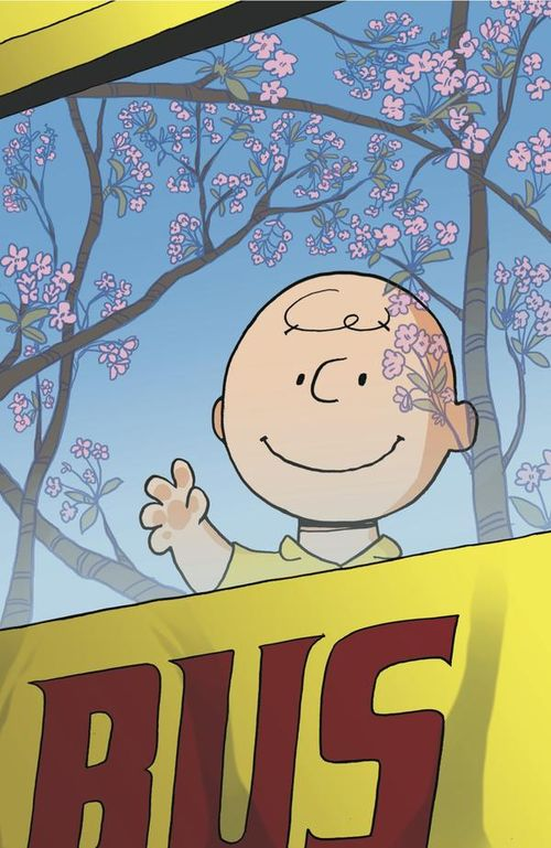 Charlie Brown and Cherry Blossoms