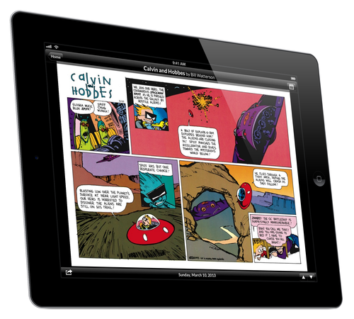 GoComics mobile app / Calvin and Hobbes