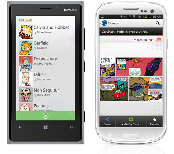 GoComics mobile app