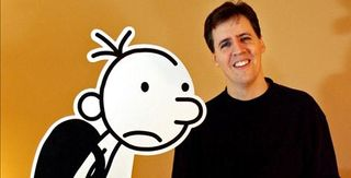Jeff Kinney and Wimpy Kid photo