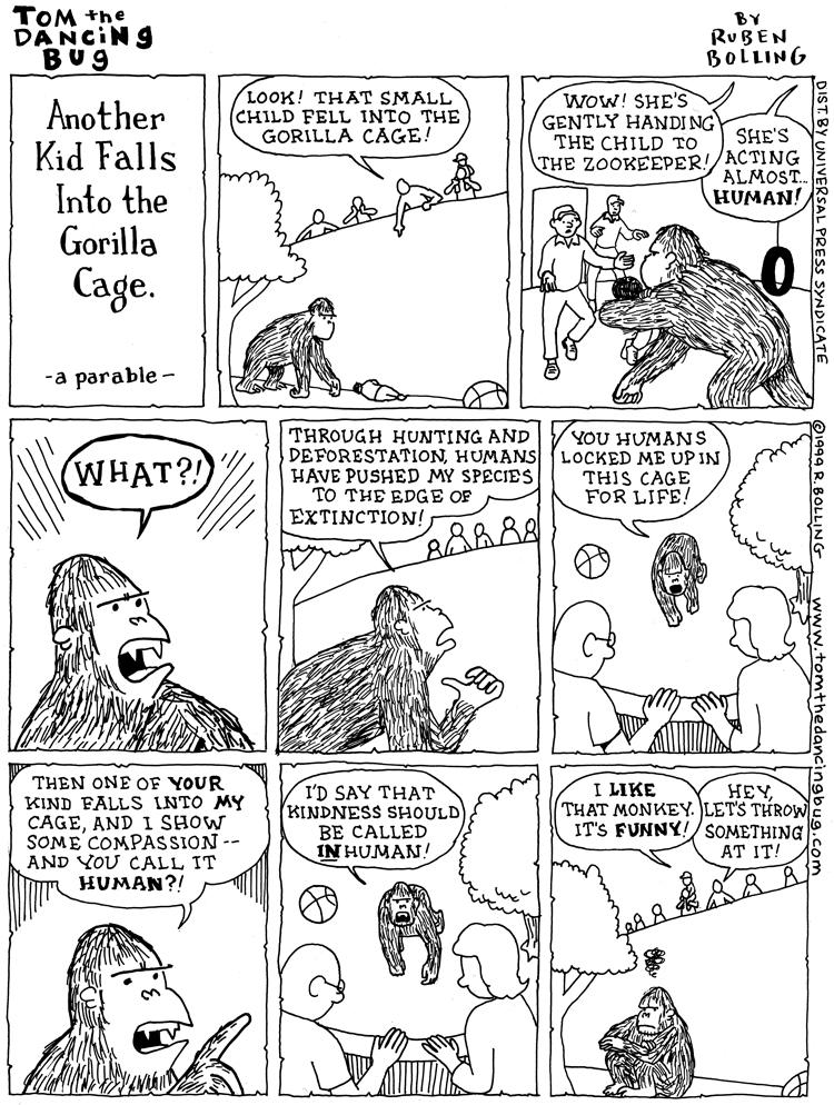 465 kid in gorilla cage