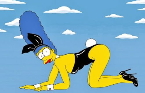 Marge Simpson bunny suit