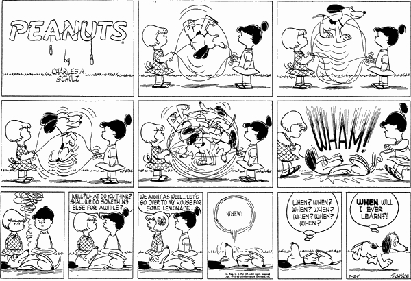 Peanuts Sunday July 24, 1955