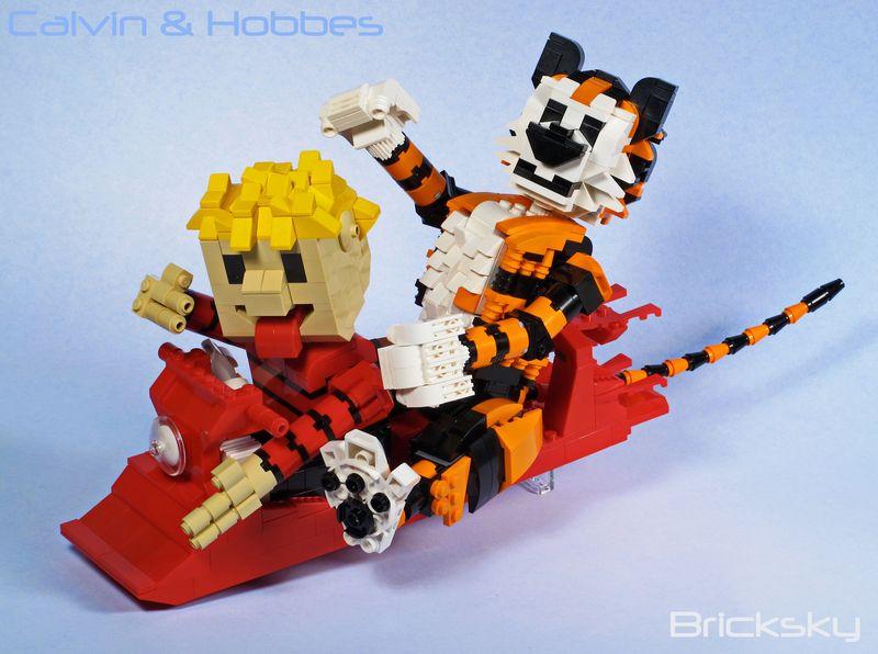 Calvin & Hobbes Lego Sled 1