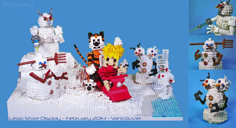 Calvin & Hobbes Lego vs Snowmen
