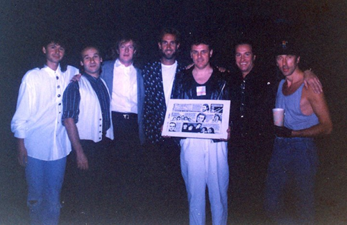 Presenting the original art from my first syndicated series Biography to the band Mike + The Mechanics in 1989.