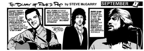 My first daily strip - The Diary of Rock & Pop from 1986. My first daily strip - The Diary of Rock & Pop from 1986.