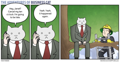 The Adventures of Business Cat by Tom Fonder
