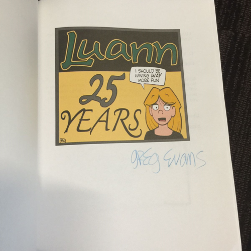Luann Signed Book