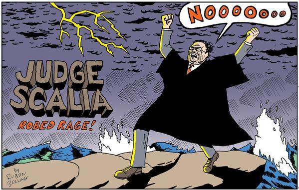 SCALIA ROBED RAGE illustration