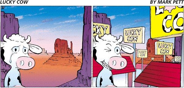 Lucky Cow by Mark Pett