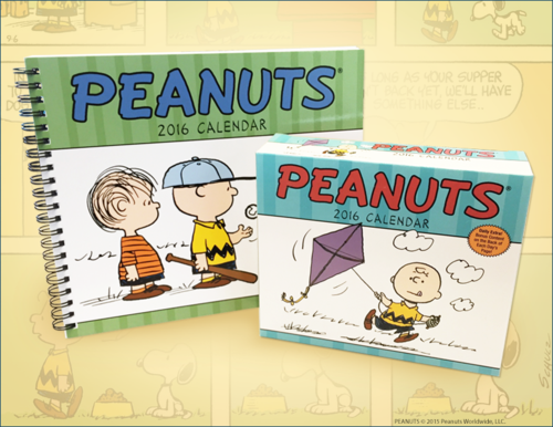 Peanuts 2016 Calendars from Andrews McMeel Publishing