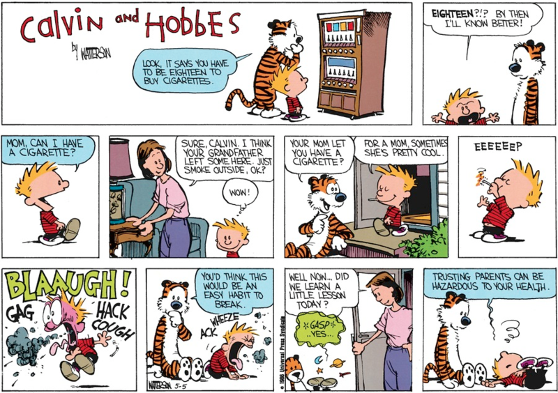 Calvin and Hobbes Daily Comic Strip 2 iphone case