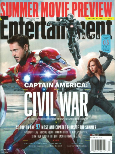 EW April 2016 cover