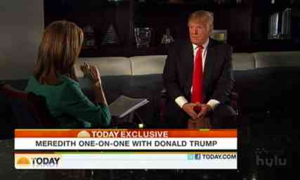 Trump vieira birther interview today