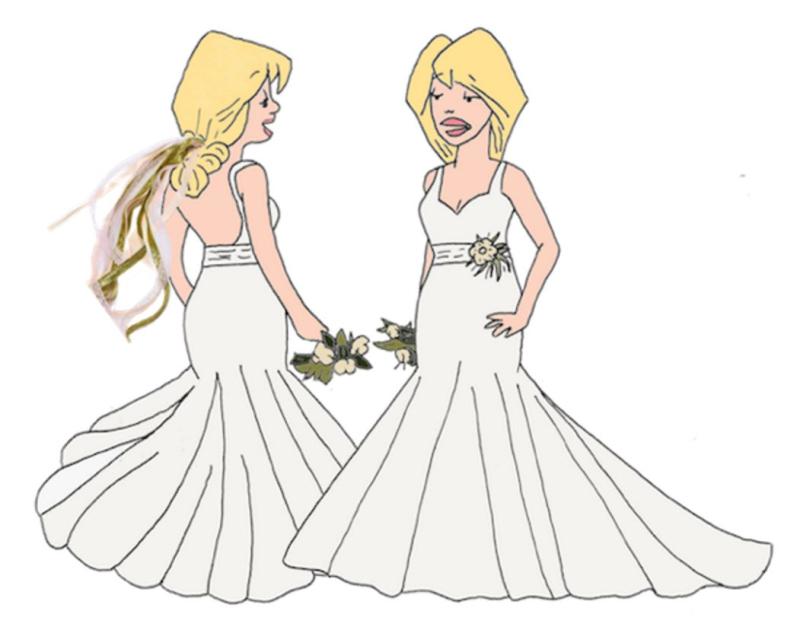 Phillip gust luann toni wedding dress design