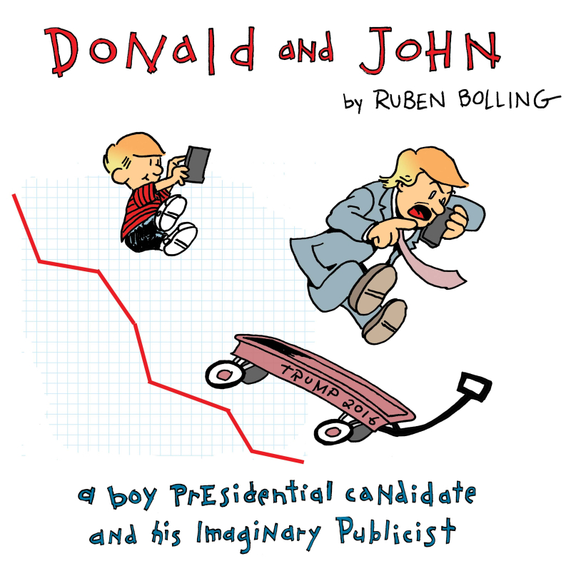 Donald and john cover illustration NIB