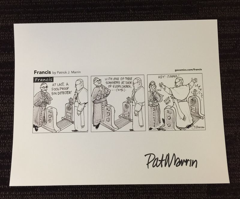 Francis Signed Print