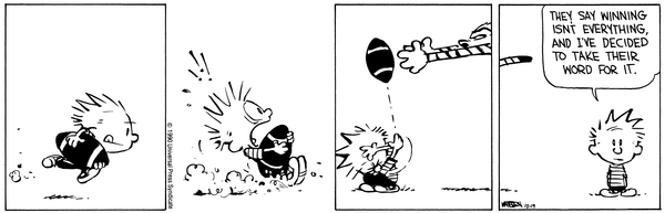 Image result for calvin and hobbes football