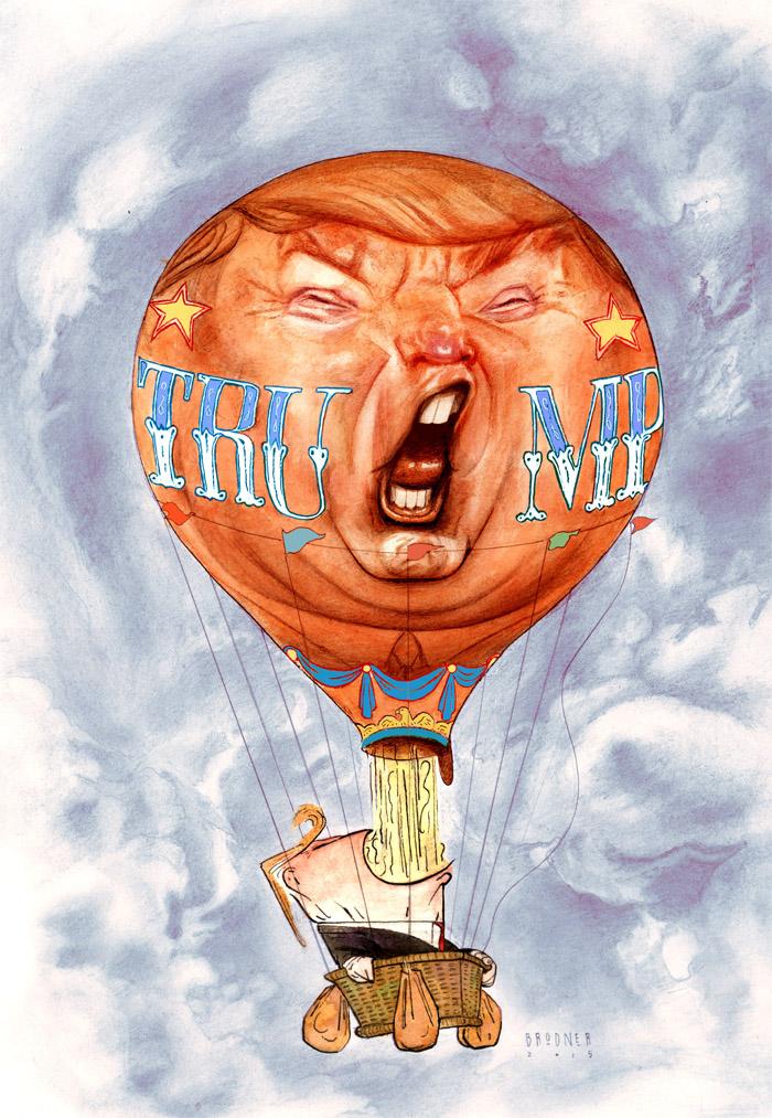 Steve Brodner Trump Hot Air Balloon