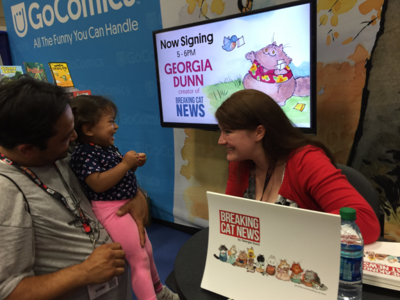 Breaking Cat News creator Georgia Dunn