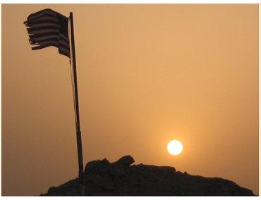Framed_kelley_sunset_flag_7